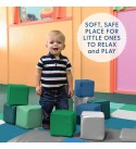ECR4Kids SoftZone Patchwork Toddler Play Mat with 12 Soft Blocks, Contemporary