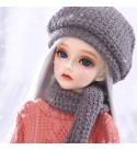 HWOEK 1/4 Doll, 3-Color Changing Eyes Matte Face and Ball Jointed Body Dolls, Loli Doll Full Set 41Cm 16Inch Jointed Dolls Toy Action Figure Makeup Accessory