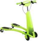 CYGJ Abs Plastic Scooters Boys with 4 LED Wheels,Green Foldable Scooter Basket Girls for Children Aged 1-3 Years