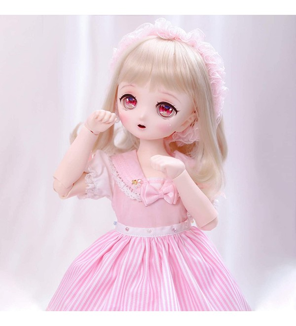 1/4 BJD Doll 39.5cm Full Set Female Girl Doll Ball Jointed Dolls + Makeup + Clothes + Socks + Shoes + Wigs + Doll Accessories
