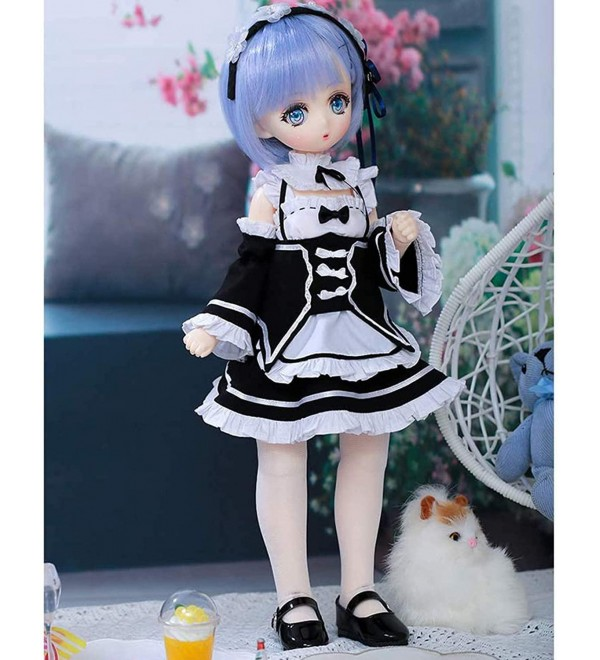 1/4 BJD Doll Dolls Full Set 39cm 15.35 inch Girl SD Dolls Toy with Costume Clothes Wigs Shoes Makeup Accessories