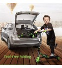 Carbon Steel Scooters Kids with 3,Pink Foldable Scooters for Toddler Boys for Boys and Girls Aged 1-15