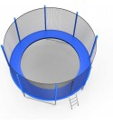 Kimanli Outdoor Trampoline, 12 FT Kids Trampoline with Enclosure Net Jumping Mat and Spring Cover Padding Playground Accessories