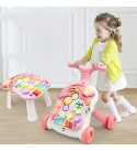 DEPRQ Baby Walker Walker Baby Walker with Song Toys, 6 Months of Study for 0-3 Years Old for Toddlers (Color : Blue, Size : 45x40x36CM)