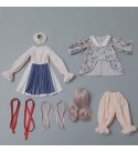 Fbestxie 56Cm/22In BJD Doll 1/3 Ball Mechanical Jointed Doll with Full Set of Clothes Coat Hair Socks Pants Accessories