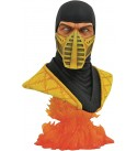 DIAMOND SELECT TOYS Mortal Kombat 11: Scorpion Legends in 3-Dimensions 1:2 Scale Bust, Multicolor, 10 inches