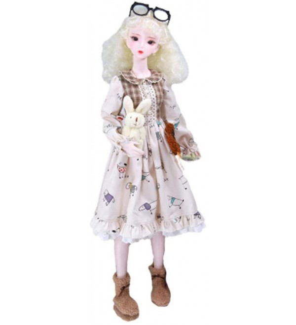 LUSHUN BJD Dolls 1/3 SD Doll 24 Inch 26 Ball Jointed Doll DIY Toys, Doll Ball Jointed Dolls + Makeup + Clothes + Shoes + Wigs + Doll Accessories, 360° Body can Turn