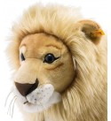 Steiff Leo Riding Lion Stuffed Rocker - Premium Quality Soft Woven Plush Ride-On Animal with Wooden Base and Handles - for Kids Ages 4 and Up