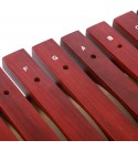 【Christmas gift】xylophone for kids,xylophone for toddlers,1.980.670.87inch Rosewood Christmas present Xylophone, with Mallet with Stand Children Xylophone, 16 notes for Teaching supplies for musical e