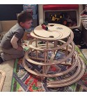 Mountain Spiral Railway The Original Spiral The Ultimate Natural Wood Train Track Accessory Compatible with Thomas, Brio and IKEA Sets