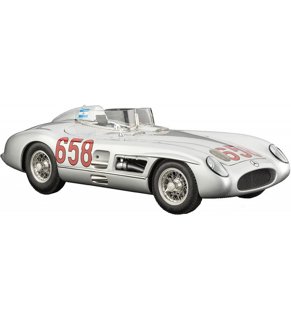 CMC-Classic Model Cars Mercedes-Benz 300 SLR 1955 Mille Miglia 658 1:18 Scale Detailed Assembled Collectible Historic Antique Vehicle Replica
