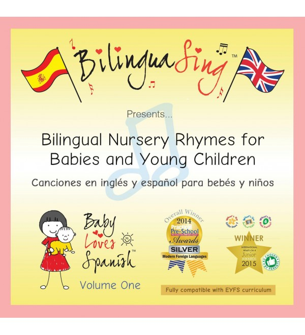THE #1 Spanish Music CD for Babies   Nursery Rhymes CD   BilinguaSing (Baby Loves Spanish Vol.1) AWARD WINNING BABY MUSIC   LOVED BY BABIES & PARENTS!