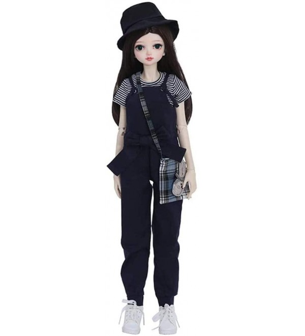 1/3 BJD Doll Full Set 56cm 22 inch Jointed Dolls with Clothes Wig Makeup Shoes Accessories for Girls's Toy