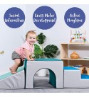 ECR4Kids - ELR-12669F-CT SoftZone Tiny Twisting Foam Corner Climber - Indoor Active Play Structure for Toddlers and Kids & - ELR-12717F-CT SoftZone Single-Tunnel Foam Climber