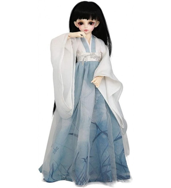 1/4 BJD Doll Ancient Costume Full Set 40Cm 15Inch 19 Jointed Dolls + Clothes + Makeup + Accessories Baby Doll Toy Gift for Girs's Toy