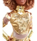 Barbie Collector Star Wars C-3PO x Barbie Doll (12-inch) in Gold Fashion and Accessories, with Doll Stand and Certificate of Authenticity