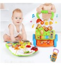 DEPRQ Baby Walker Baby Walker Trolley Multi-Function Anti-Rollover Baby Walker Toy for Girls and Boys for Toddlers (Color : Multi-Colored, Size : 46x42x38CM)