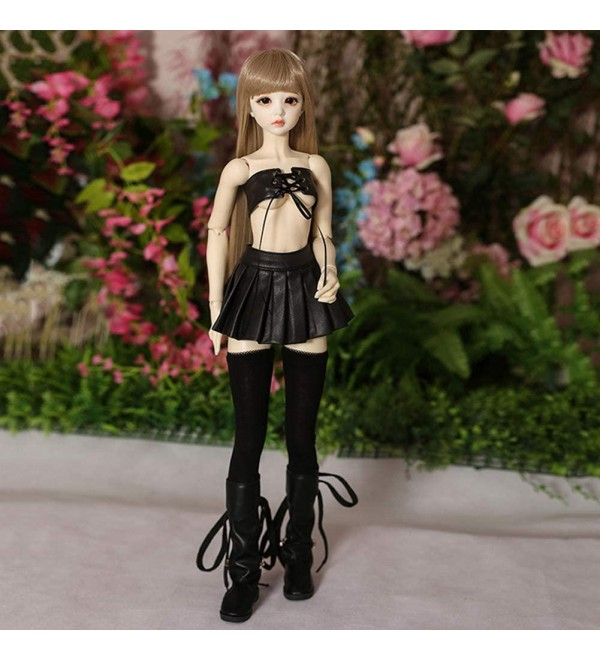 HGCY Full Set 1/3 BJD Doll 24Inch Female Girl Doll Ball Jointed Dolls + Makeup + Clothes + Shoes + Wigs + Doll Accessories with Outfit Dress Shoes Wigs Best Gift for Girls Boy