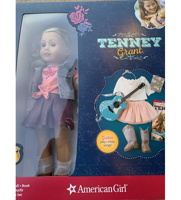 Tenney Grant Doll + Book Including Spotlight Outfit, Guitar and Accessories Set