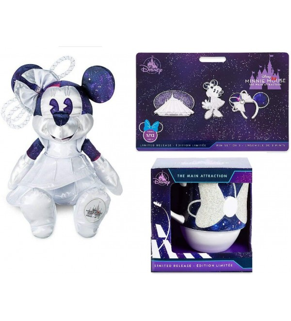 limited Minnie Mouse: The Main Attraction - January 2020 – Space Mountain - Set Include Plush, pins and Mug