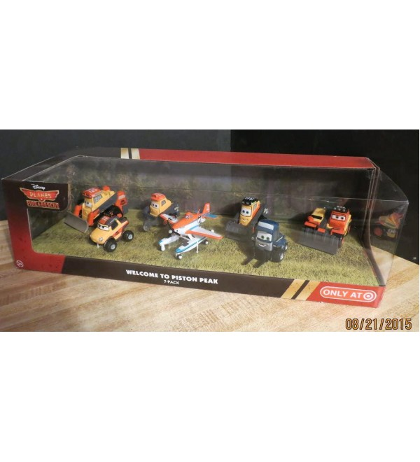 Disney PLANES: Fire & Rescue Exclusive 1:55 Deluxe Die Cast 7-Pack Welcome to Piston Peak [Pontoon Dusty, Maru, Dynamite, Pinecone, Avalanche, Drip & Blackout]