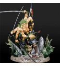 BINGFENG One Piece Anime Figures Three Heads and Six Arms Ghost Spider Asura Roronoa Zoro Model Character Decoration Doll Statue Figurine Collectible Role Toys 30CM