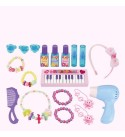 Fantasy Vanity Dream Dresser Children's Keyboard Piano Toy Girl Play House Dressing Table Princess Makeup Toy Set Kids Vanity Table Set (Color : Pink, Size : 74x44x28cm)
