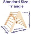 Set of 3 Pikler Triangle for Kids Toddlers Rock with ramp - montessori climber Ladder slide - Learning waldorf climbing toys - arch toy for toddler - structure pickler rocking (Standard Size)