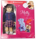 American Girl Molly Doll 1944 + Book + Pajamas + Accessories Set