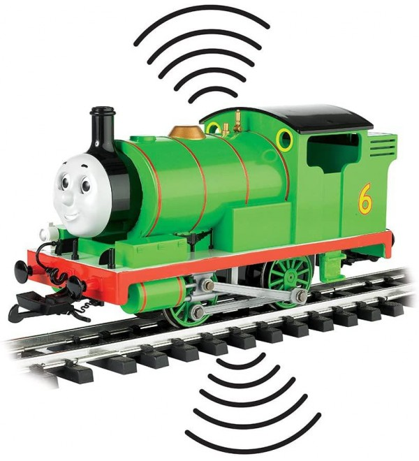 Bachmann Trains - THOMAS & FRIENDS DCC Equipped - PERCY ENGINE (with moving eyes) - Large G Scale