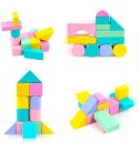 QREZ Wooden Building Blocks Set City Construction Stacker Stacking Preschool Learning Educational Toys Wooden Stacking Board Games