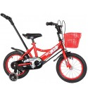 JAD@ Children's Bicycle 12/14/16 Inch Bike 2-3-5-7 Years Old Boys and Girls Children Preschool Baby Carriage with Push Rod Bicycle (Color : Red, Size : 12