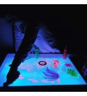 Light Sandbox All-in-1: Activity Table + Sensory Table + Light Table + Sand Box + whiteboard + Chalk Desk. Includes: Cover, Color Controller, Sand and Trowel, Legs with Adjustable Height