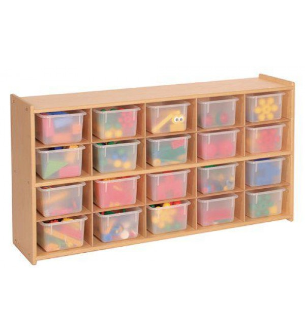 20 Tray Storage Cabinet with Opaque Trays