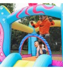 doctor dolphin Inflatable Bounce House Slide Animal Bouncy House Castle for Kids Party with Air Blower