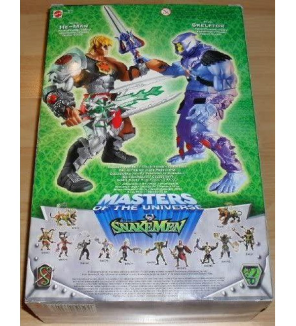 Huge 10 Inch Rotocast Skeletor Masters of The Universe Motu Vs. The Snakemen 2003 Action Figure with Sword