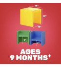 Constructive Playthings-MT-1156 Kids Multi-Use Cube Chair, Multicolor (Set of 4)