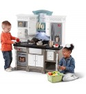 Step2 Lifestyle Dream Kitchen   Plastic Toy Play Kitchen with 37-Pc Accessories Set   Contemporary Kids Kitchen Playset
