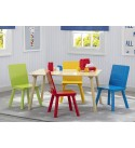 Delta Children Kids Table and Chair Set (4 Chairs Included) - Ideal for Arts & Crafts, Snack Time, Homeschooling, Homework & More, Natural/Primary