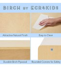 """ECR4Kids ELR-0419 Birch 5-Section School Classroom Storage Cabinet with Casters, Commercial or Personal Storage, Kids' Storage Organizer Shelf, Friendly Design, Certified and Safe, 24"""" High, Natural"""