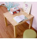 ZHONGQI Comfortable Tables, Boy Girl Solid Wood Rubberwood Play Childrens Playroom Daycare Preschool (Color : Wooden Color, Size : 80x80x75cm),Size:80x80x75cm,Colour:Wooden Color