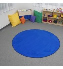Learning Carpets Blue Solid Rug, 108