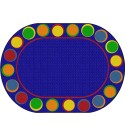 Flagship Carpets Sitting Spots Seating Area Rug for Children's Classroom or Kids Playroom, Seats 20, 6'x8'4