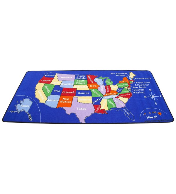 Learning Carpets U.S. Map Rug, Rect. 101