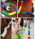 DYYD Kids Indoor and Outdoor Balance Beam Build Coordination and Balance Kids Preschool Learning Toy Stepping Stones for Kids