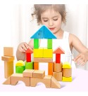 NICELIVING Preschool Toys Baby Toddler Toys Toddler Building Blocks Wooden Educational Large Particle Toysbirthday for Boys and Girls (Color : 3pieces)