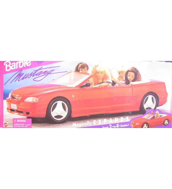 Barbie MUSTANG MAGICALLY EXPANDS Vehicle CAR & ME and MY MUSTANG BARBIE Doll SET (1994)