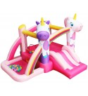 RETRO JUMP Unicorn Inflatable Bouncer Princess Bounce House with Slide Kids Jumper Bounce House with Blower for Birthday Party Gift