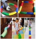 ZHANGYN Balance Stone Athletic Balance Player Balance Beams Stepping Stones for Kids Promote Balance, Strength, Coordination Kids Preschool Learning Toy