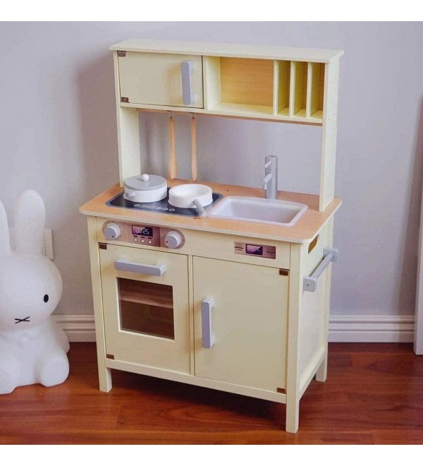 LCSW Brainstorm Kitchen Toys Modern Chefs Childrens Kids Pretend Play Toy Wooden Kitchen for Kids, Educational Toys for Preschool and Kindergarten Kitchen Toys for Toddlers Girls Boy Birthday Gift